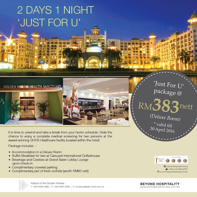Check out Palace Of The Golden Horses' latest room packages, bang for the buck!