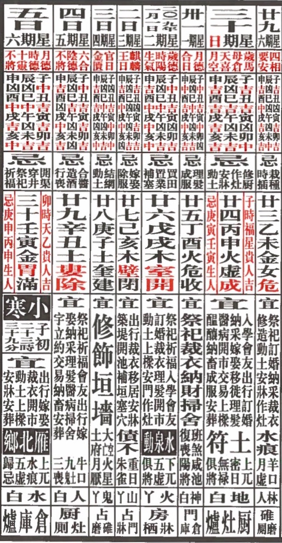 Round and Square: China's Lunar Calendar 2019 01-01