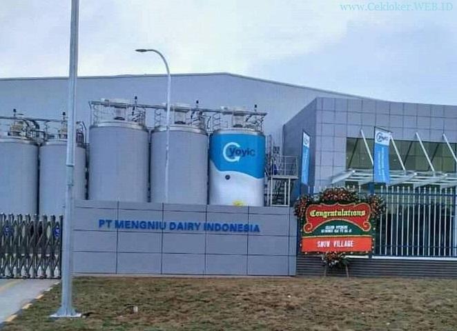 Lowongan kerja PT.Mengniu Dairy Indonesia | Kawasan Industri GIIC