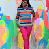 CANDY STRIPE TURTLENECK SWEATER
