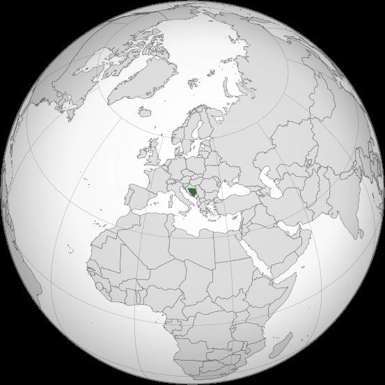 Letak negara Bosnia dan Herzegovina