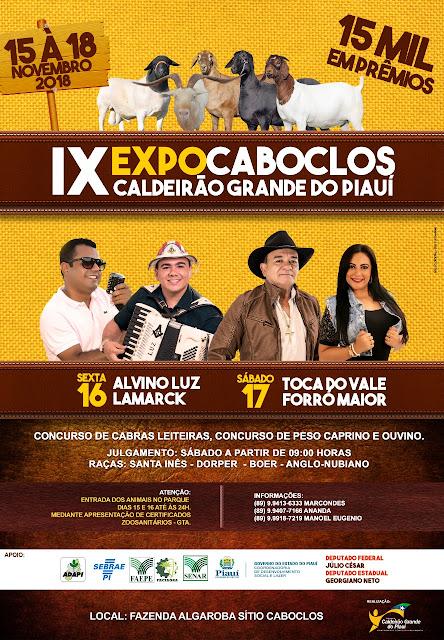 IX EXPOCABOCLOS CALDEIRÃO GRANDE DO PIAUÍ
