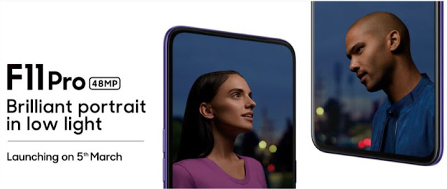 OPPO F11 Pro | Launching on 5th March Low Light Portrait Photography 48MP + 5MP Dual Rear Camera