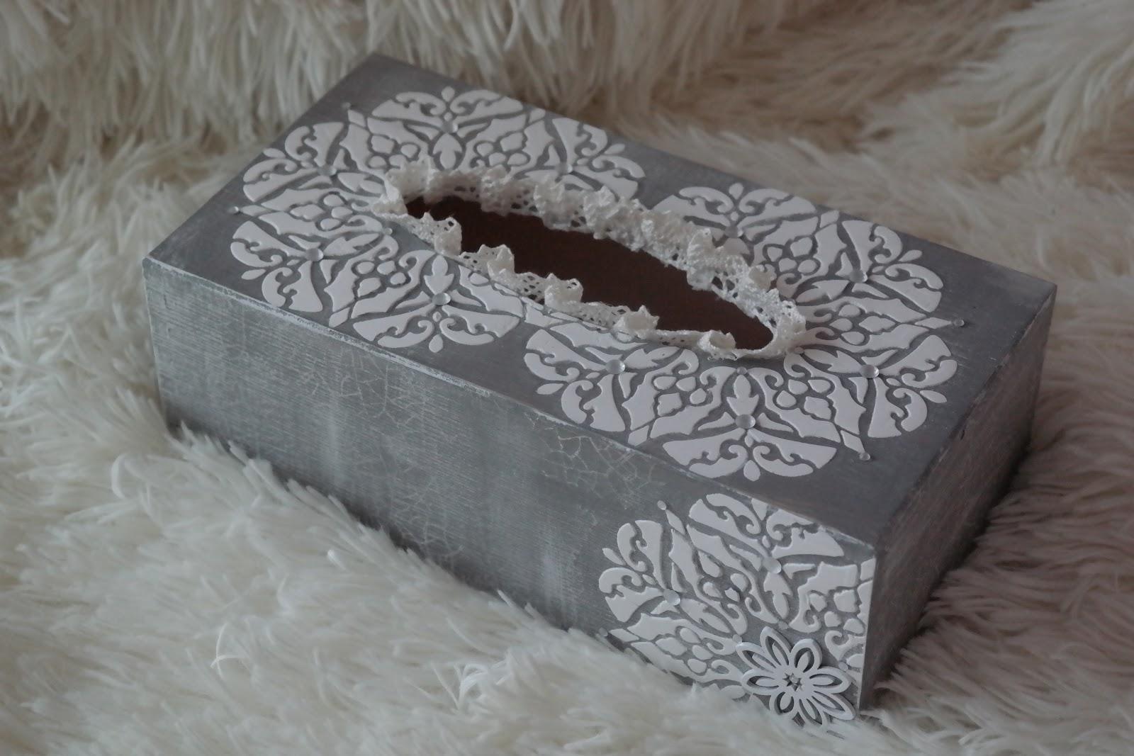 Chustecznik z szablonem 3D - DIY