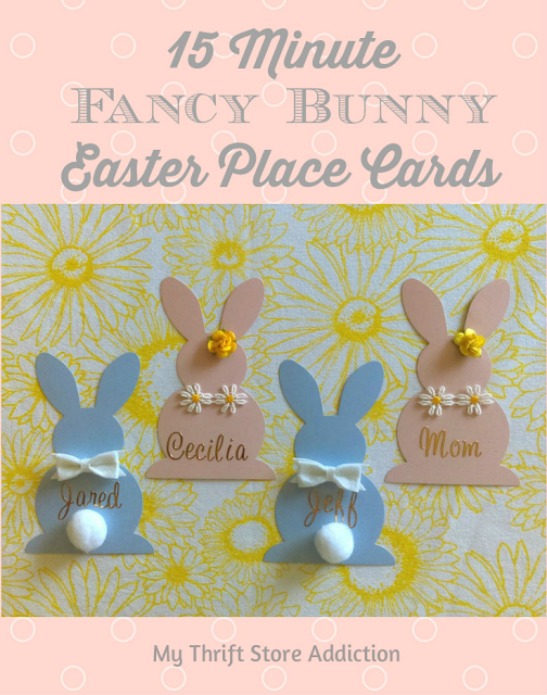 15 minute fancy bunny place cards