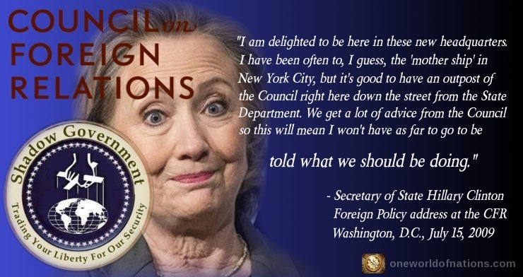 Hillary, Clinton, CFR, Council on Foreign Relations, 2016, Shadow Government, Election, President, POTUS, Quote, Speech