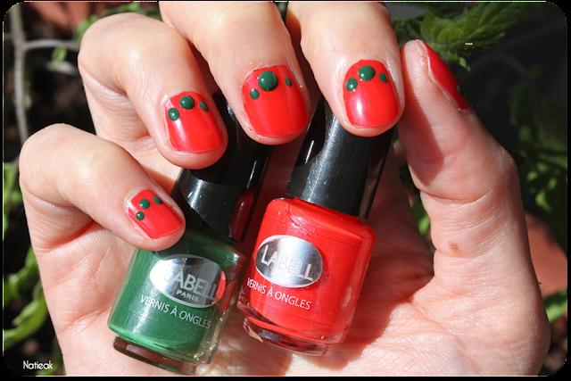 rouge Guarana et  vert foncé carnaval