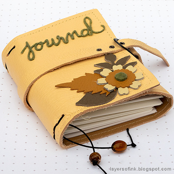 Layers of ink - Wrapped Leather Journal by Anna-Karin Evaldsson