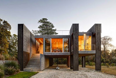 Casas minimalistas y modernas casa moderna en east hampton for Casa moderna hampton hickory