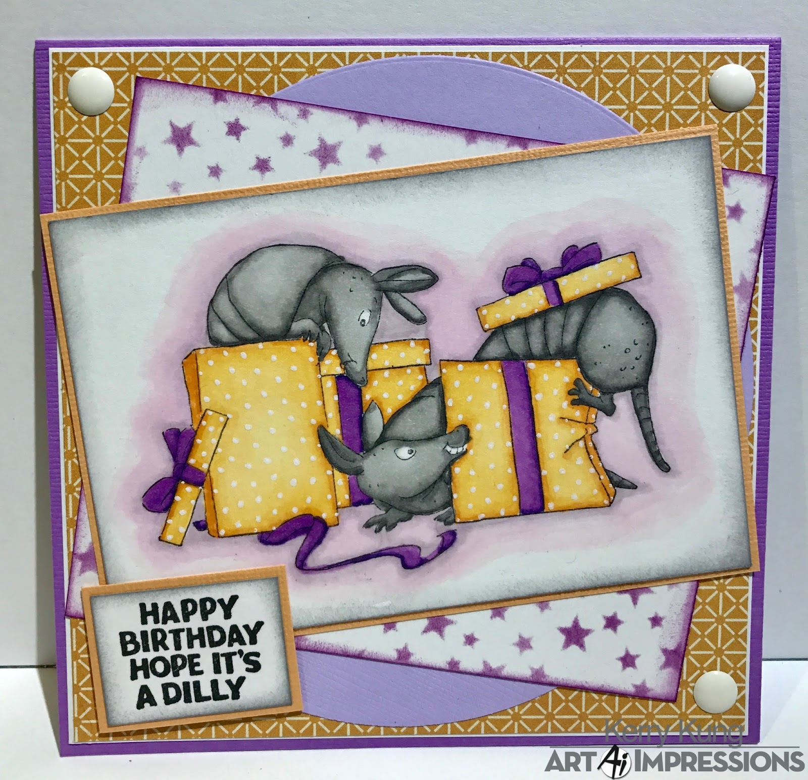 Art Impressions Blog: Happy Happy Birthday! By Kerry
