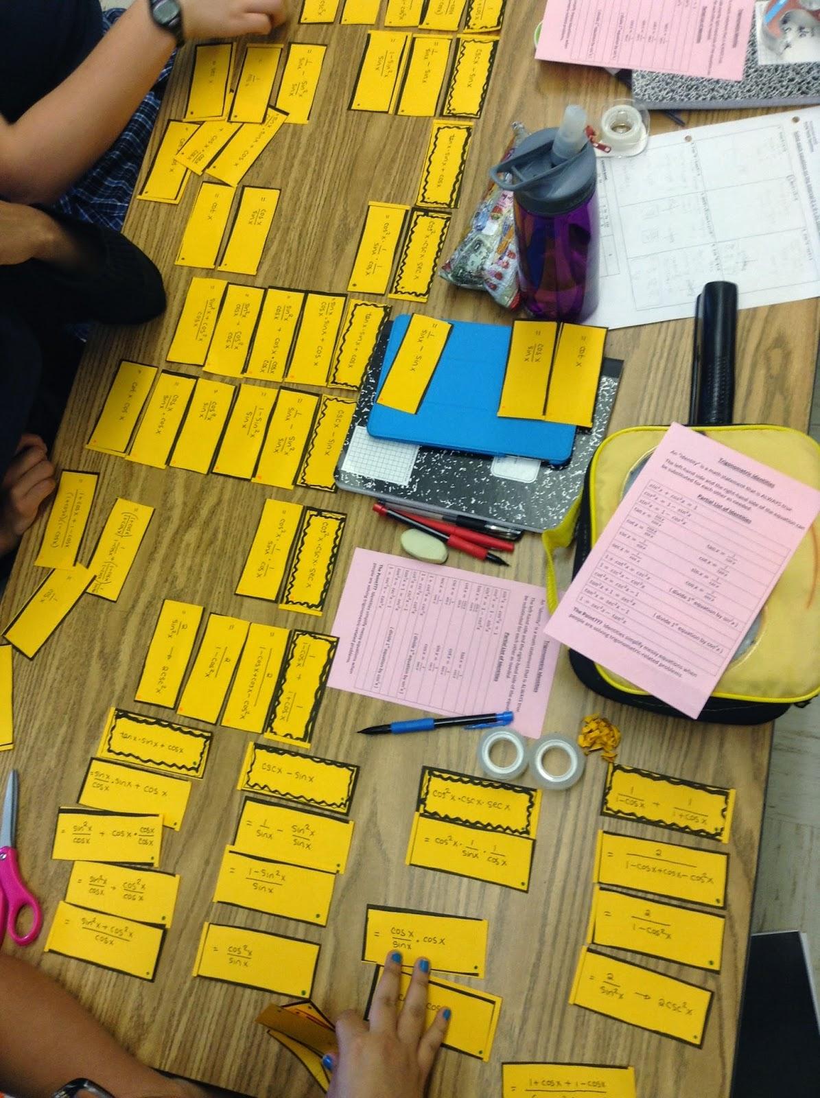 Math Teacher Mambo Trig Identity Match Up Activity