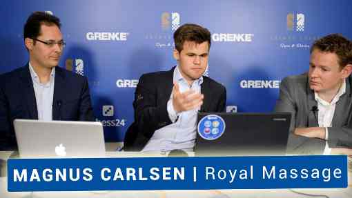 Le champion du monde d'échecs Magnus Carlsen va-t-il réaliser un massage positionnel face à Viswanathan Anand ? - Photo © site officiel