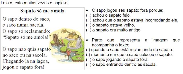 Texto SAPATO SÓ ME AMOLA