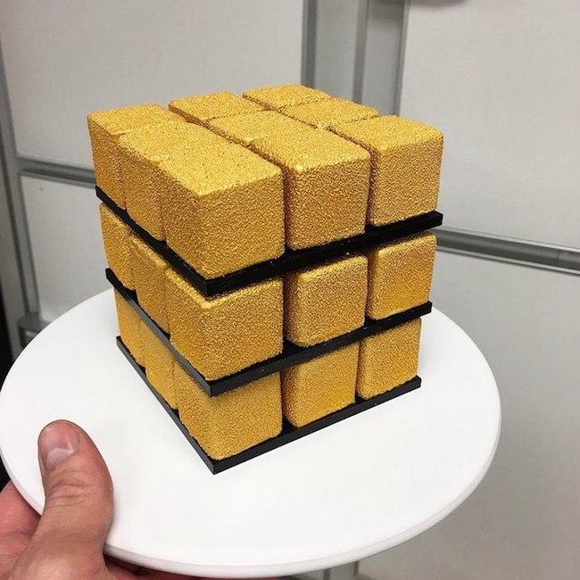 bolos feitos de cubos magicos 03 - Os cubos mágicos que você provavelmente adoraria devorar.