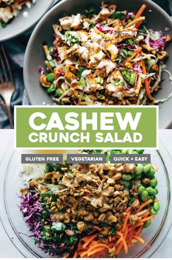 Cashew Crunch Salad With Sesame Dressing