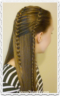 Mermaid hairstyle, french braiding hack tutorial.