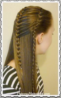 Mermaid hairstyle, french braiding hack tutorial.