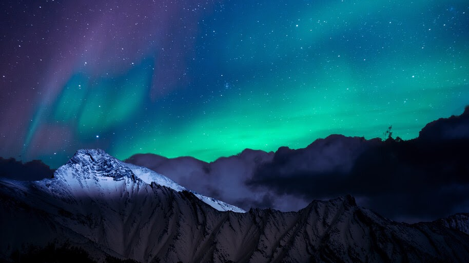 Aurora Borealis, Northern Lights, Night, Sky, Mountains, Scenery, 4K, #6.919