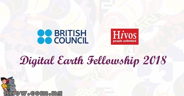 How To Apply For The Digital Earth Fellowship 2018