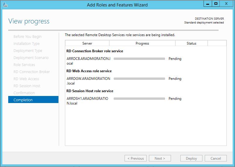 Remote Desktop Services - Standard Deployment   TechCrumble