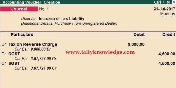 How To Create Reverse Charge Tax Liability In Tallyerp 9