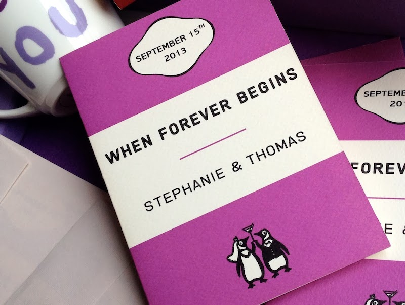 Penguin Book Cover Wedding Invitation Template : Kalo make art bespoke wedding invitation designs quot our