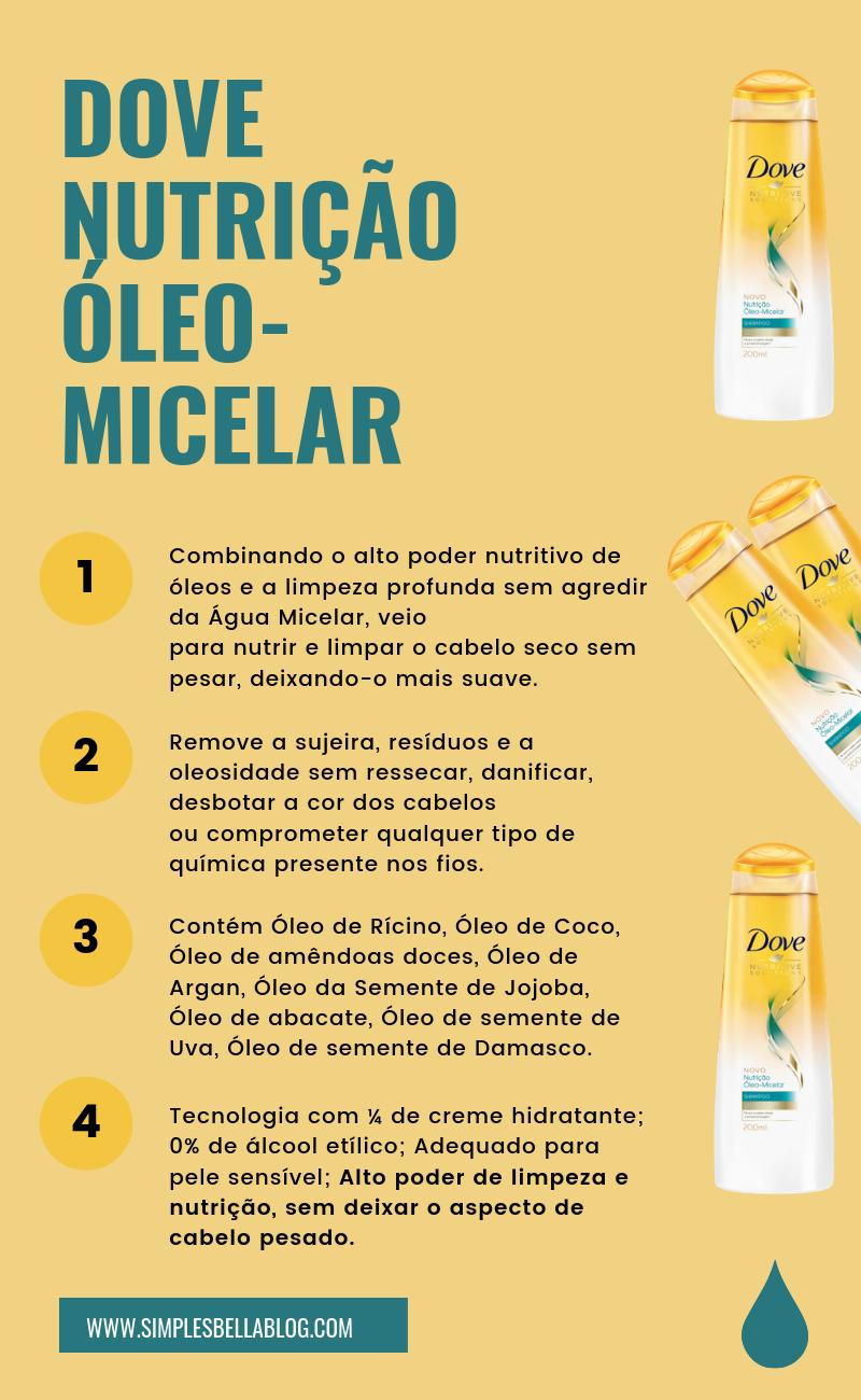 Shampoo Dove Nutrição Óleo Micelar é bom? Confira os benefícios e resenha completa!