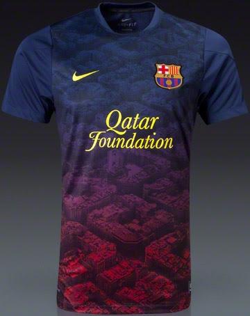 494ff2499 Nike FC Barcelona 13-14 Prematch + Training Shirts - Footy Headlines