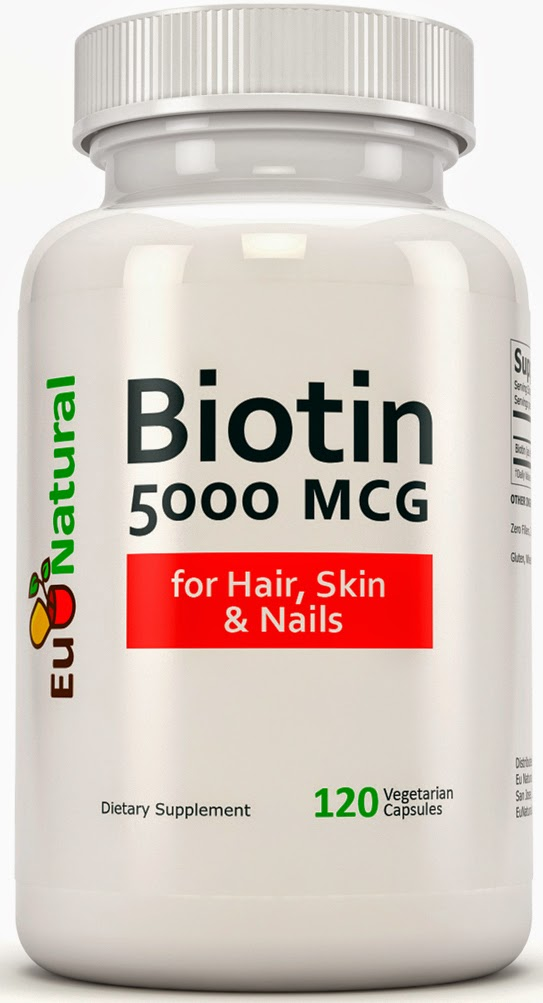 Eu Natural Biotin for healthy hair, skin, nails