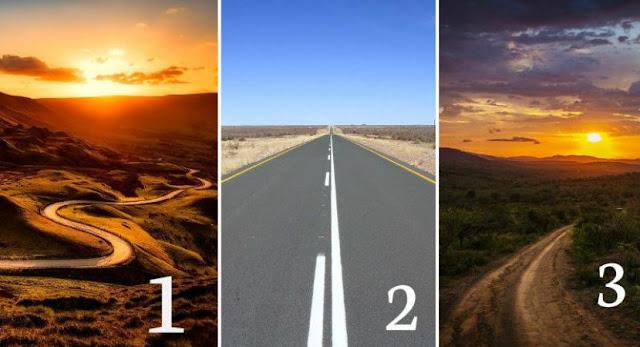 Qual estrada você escolheria? Sua escolha revelara traços de sua personalidade:  Veja !