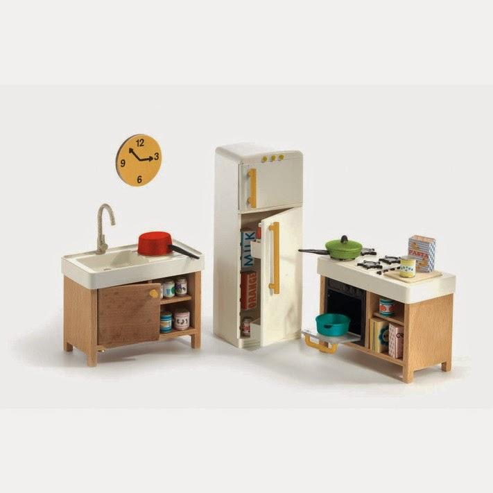 djeco modern doll house furniture kitchen dollhouse furniture kitchen set melissa doug