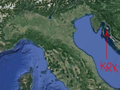 Posizione Isola di Krk