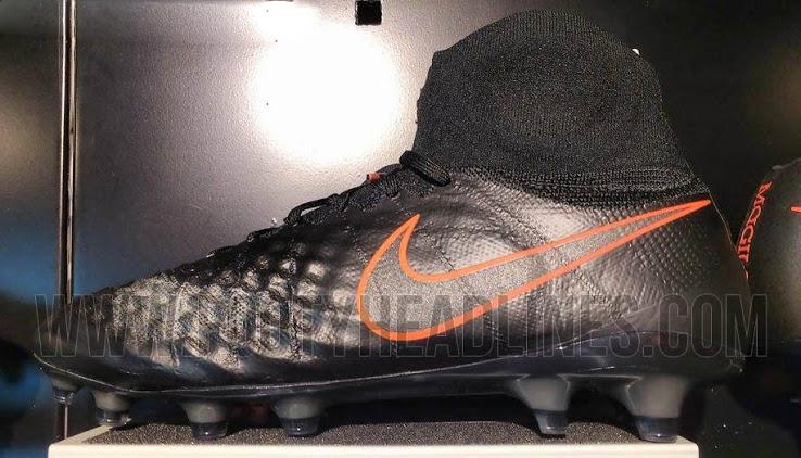 fcd8dd4e Billige Fotballsko På Nett 2016 Nike Magista Obra II Sort Total Crimson