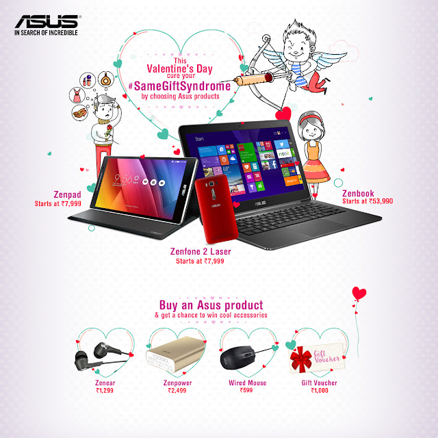 Asus announces Valentine's Day offer to help cure #SameGiftSyndrome where customers buying certain Asus products can win exciting prizes