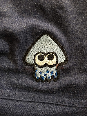 Splatoon squid embroidery patch