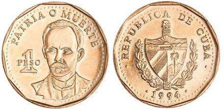1 Peso Cuba 1994