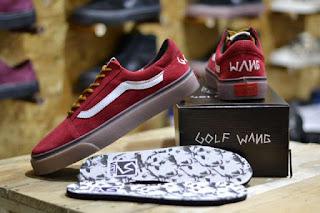 Sepatu Vans Golf Wang Red Suede Waffle ICC