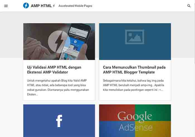 AMP Blogger Template Free Download