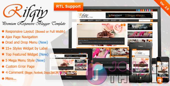 تحميل قالب RIFQIY V2.0 المدفوع لمدونة بلوجر مجاناً  - News Blogger Template