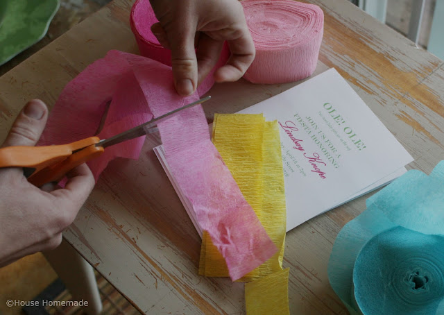 fiesta shower invitation step by step