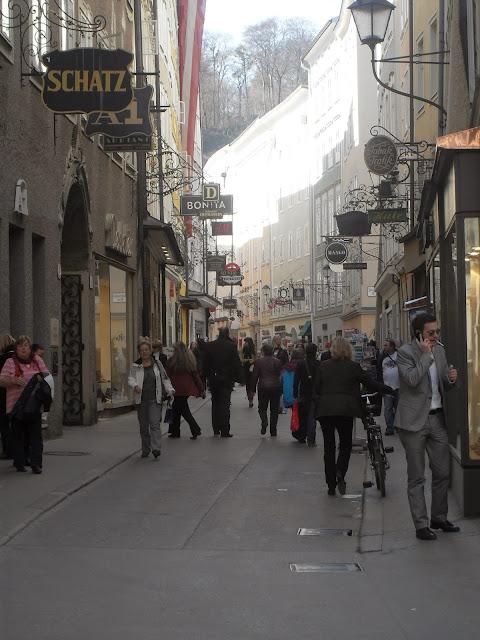 Geitredegasse, la calle principal de Salzburgo