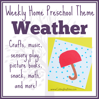 Weather theme home preschool. Crafts, math, picture books, science, sensory activities, fine motor work and more! Perfect amount of EASY activities for one week of homeschool pre-k.