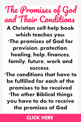 The Promises of God and Their Conditions  is a Christian self-help book which teaches you: *The promises of God for provision, protection, healing, help, finances, family, future, work and success.  *The conditions that have to be fulfilled for each of the promises to be received *The other Biblical things you have to do to receive the promises of God.