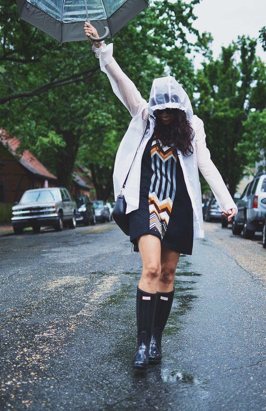 Rain coat street style