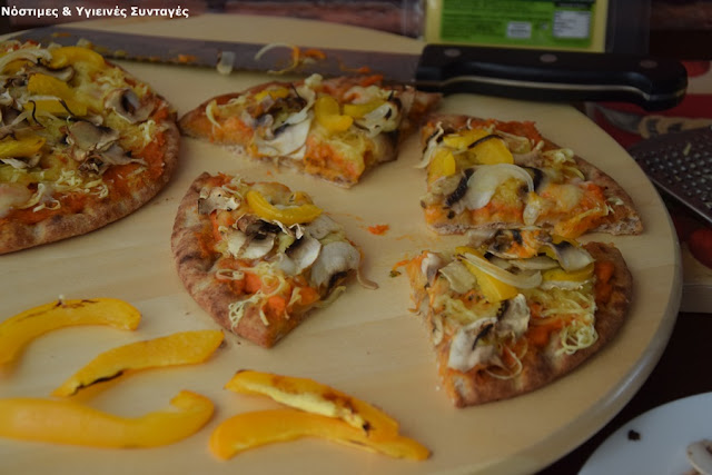 Recipe of the Day: Pizza vegetable with hummus and cheese fasting