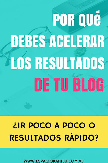 como ver resultados rápido con mi blog