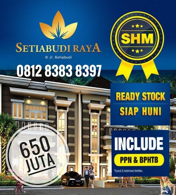 Jual Rumah Sudah Termasuk Ppn, BPHTB, IMB, SHM Di Setiabudi Raya Simpang Pemda Medan