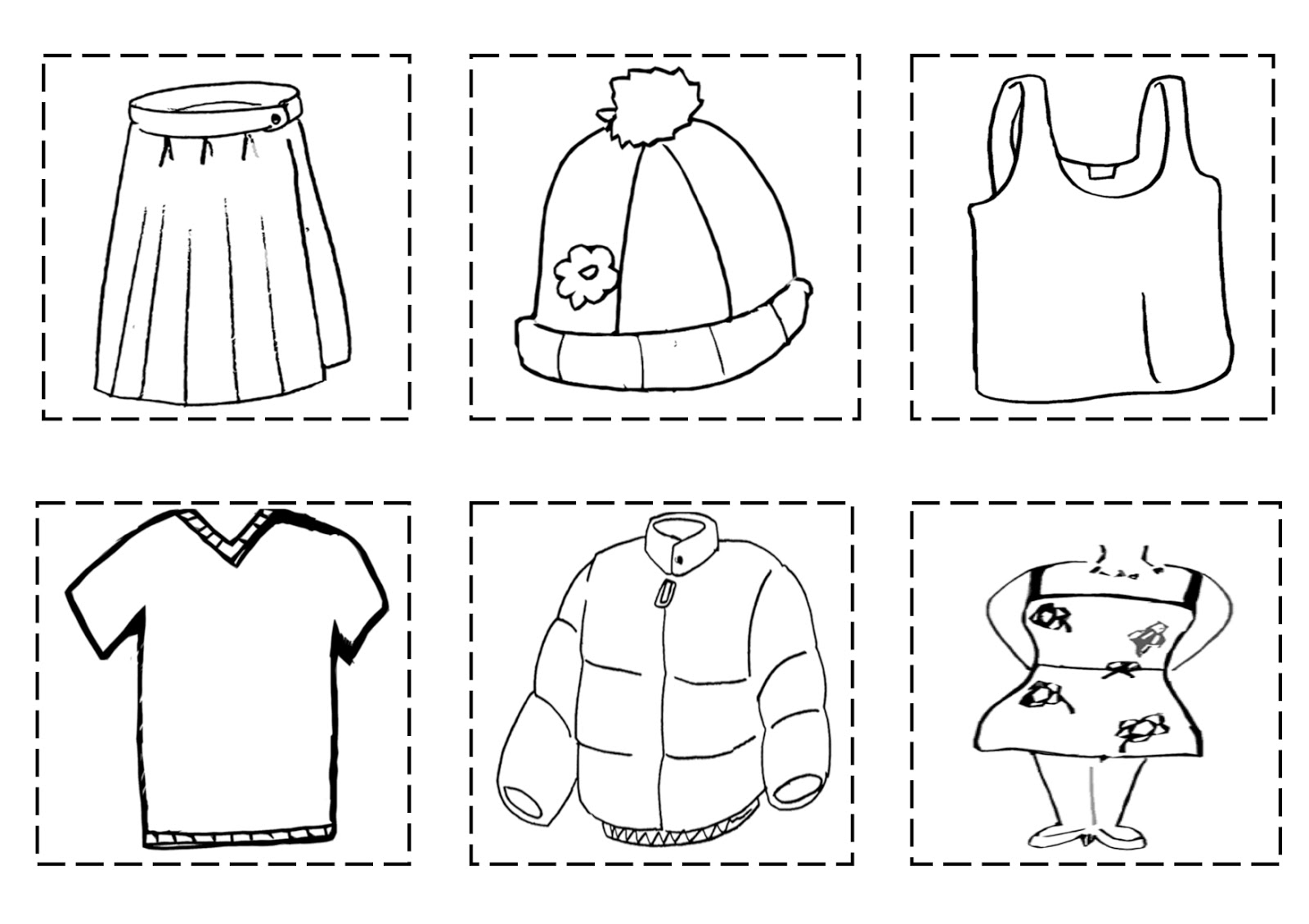 Boy Wearing Winter Clothes Sheet Coloring Pages