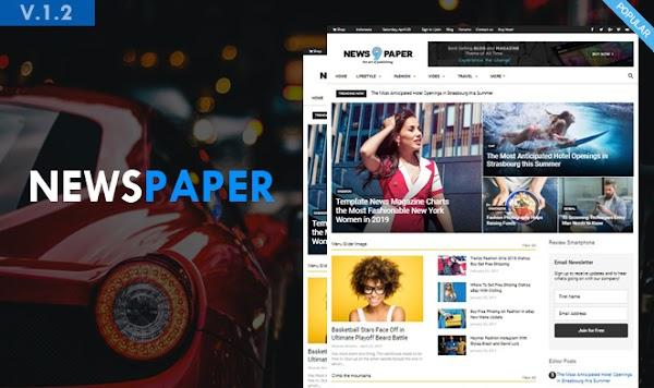Template Newspapper Versi Blogspot
