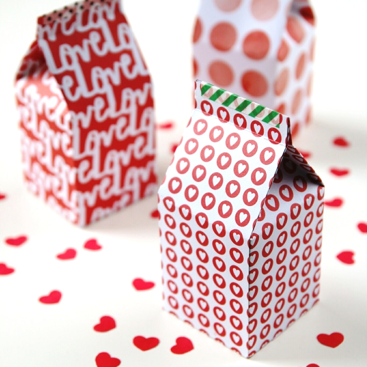 Diy Printable Milk Carton Gift Boxes with free template